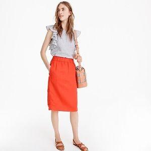 J Crew pull-on linen skirt NWT